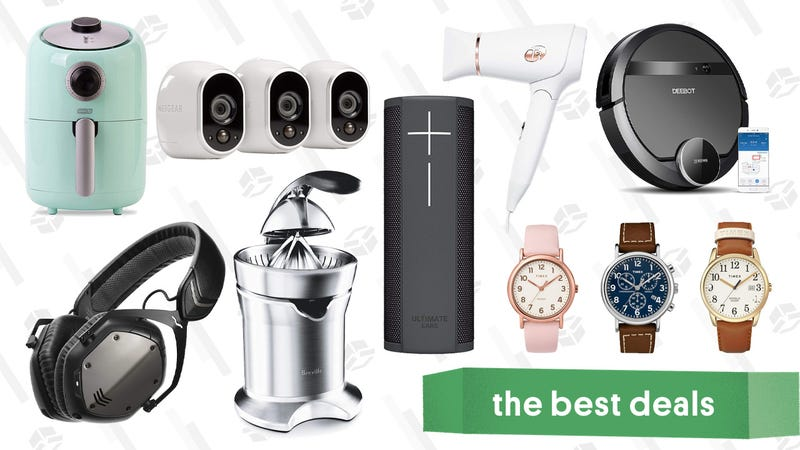 Illustration for article titled Friday's Best Deals: Timex Watches, Robotic Vacuums, Arlo Security Cameras, and More
