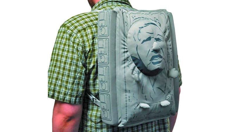Illustration for article titled Search Your Feelings; You Know You Want This Frozen Han Solo Backpack
