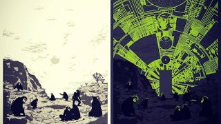 Illustration for article titled Glow-in-the-dark 2001: A Space Odyssey poster is mind-blowing when the lights go out
