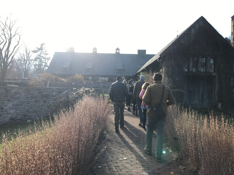 A group of farmers entering Stone Barns for the Young Farmers Conference. Photo credit: Lucas Isakowitz