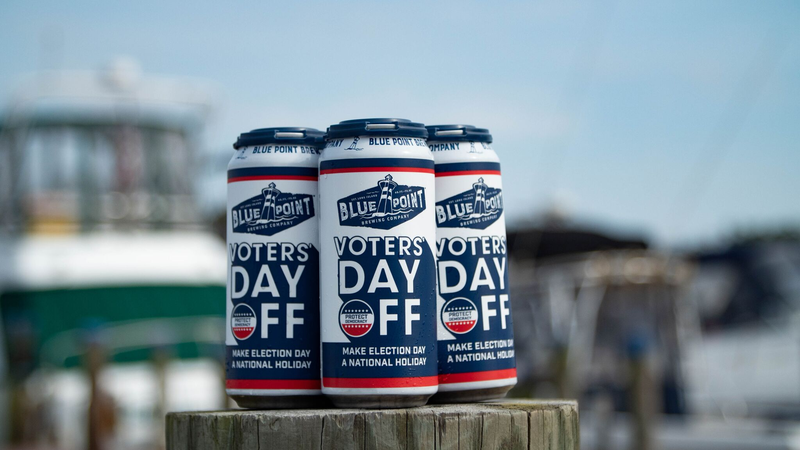 Illustration for article titled Brewery campaigns to make Election Day a national holiday, via beer can