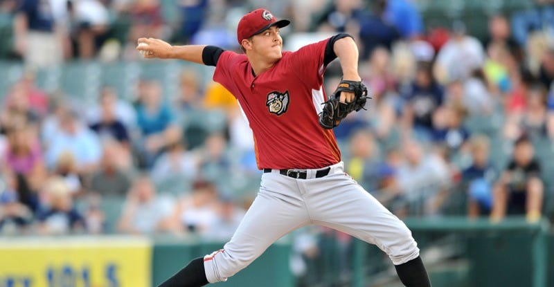 Altoona Curve starting pitcher Jameson Taillon throws a pitch on August 21, 2012. (Image: Aspen Photo/Shutterstock)