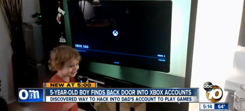 Illustration for article titled Adorable 5-Year-Old Discovers Bonehead Xbox Vulnerability