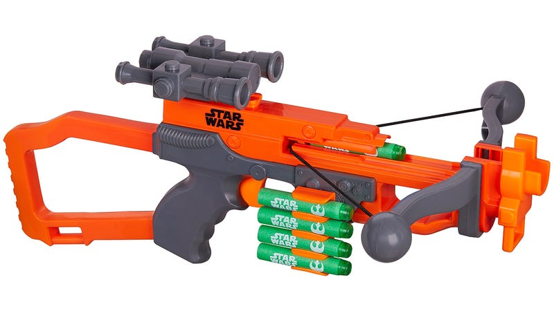 Illustration for article titled The Nerf Version of Chewbacca's Bowcaster Works Like a Real Crossbow
