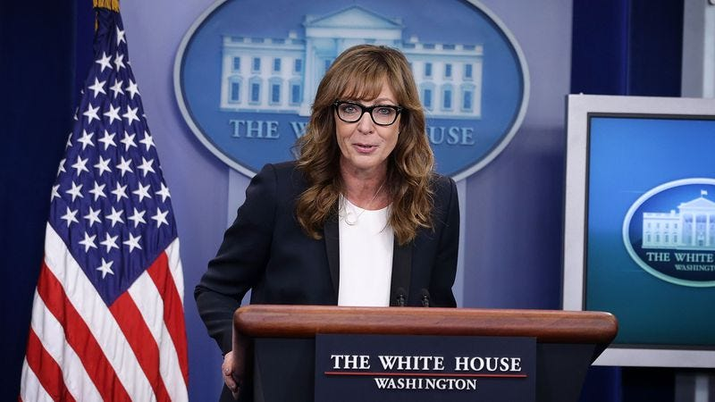 Allison Janney today at The White House (Photo: Getty Images)