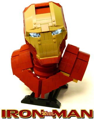 Illustration for article titled Iron Man bust replicated in Lego is not Plastic Man