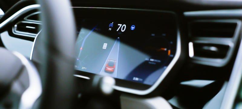 A Tesla Model S on autopilot. Photo Credit: Raphael Orlove