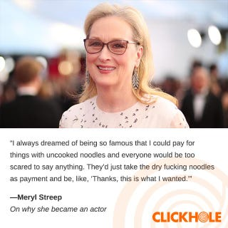 Illustration for article titled Meryl Streep said WHAT?!