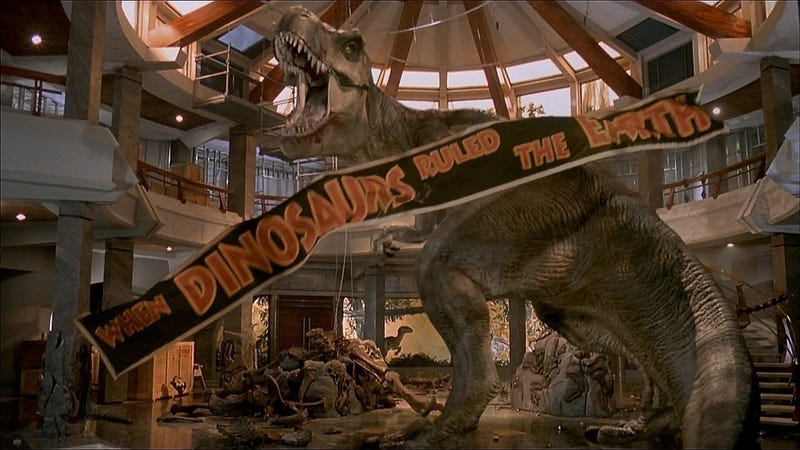 Illustration for article titled These Storyboards Reveal Another Alternate Ending to Jurassic Park (UPDATED)