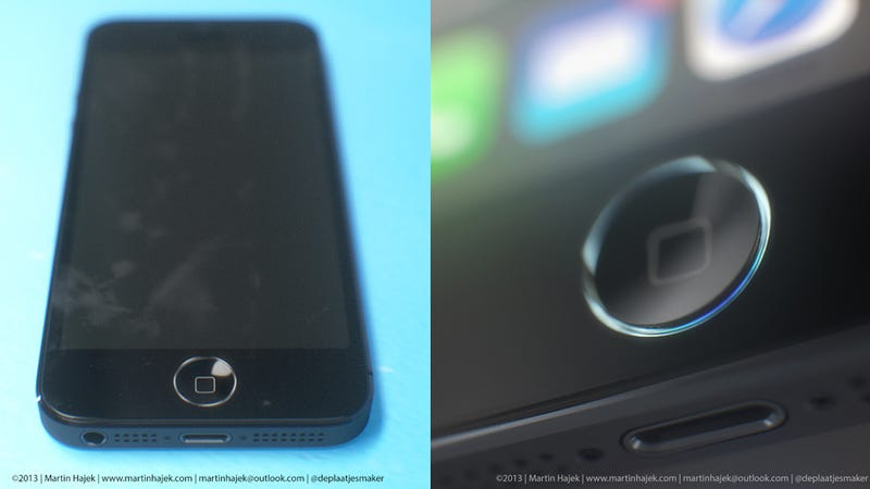 Illustration for article titled The iPhone 5S Home Button Ring Could Look Like HAL 2013
