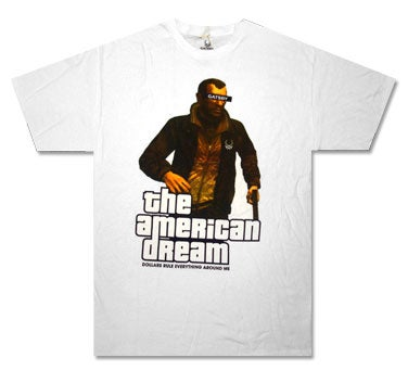 Illustration for article titled The American Dream Is A Grand Theft Auto IV T-Shirt