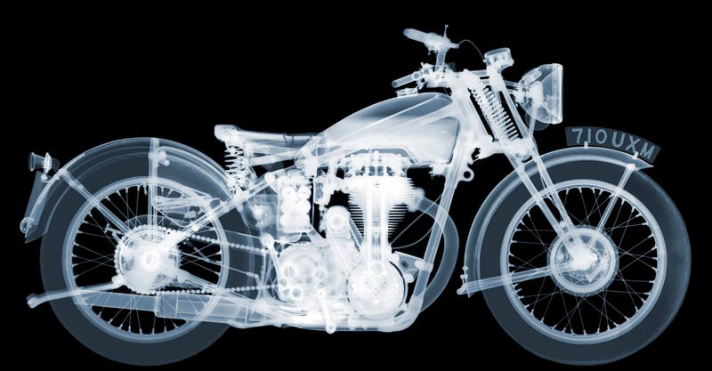 Illustration for article titled X-Ray Artist Reveals The Inner Beauty Of Classic Motorcycles