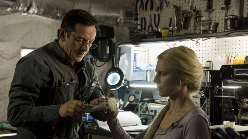 Brit Marling and Jason Isaacs in The OA.