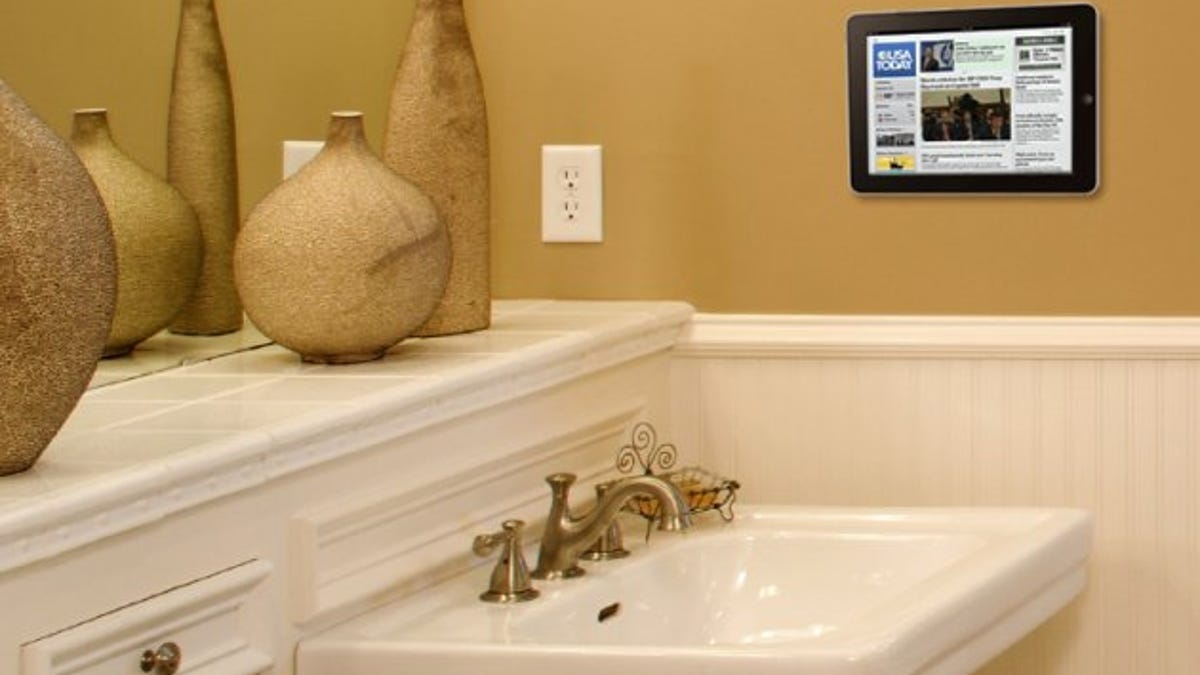 A Simple Way to Attach Your iPad to Your Walls