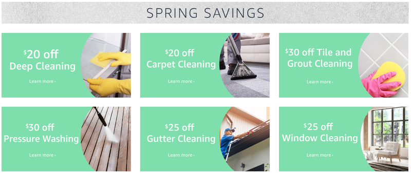 $20-$30 off Spring Cleaning | Amazon