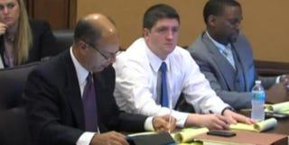 Cleveland Officer Michael Brelo in courtWKYC Screenshot