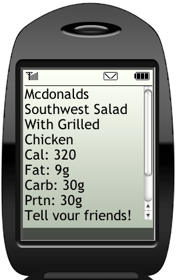 Illustration for article titled Nutritional Values Are an SMS Away at Diet.com