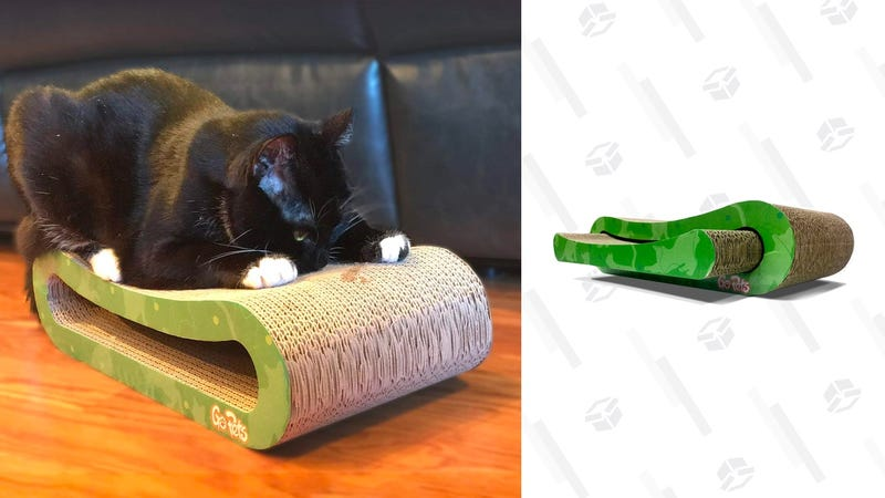 GoPets Premium Cat Scratcher, Infinity Lounge Corrugated Cardboard | $16 | Amazon | After 5% off coupon
