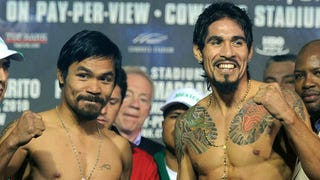 """Illustration for article titled Your """"Should've Been You, Floyd"""" Pacquiao/Margarito Open Thread"""