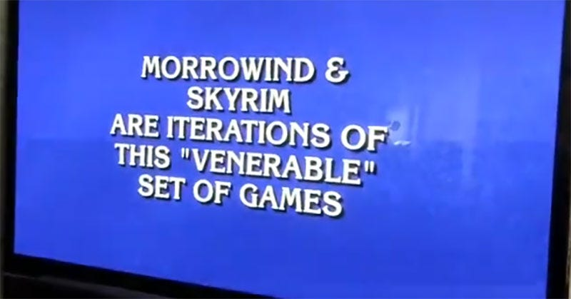 video games was on jeopardy tonight and it did not go well