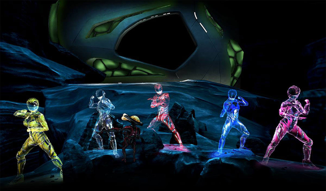 power rangers vr experience gives us our best actual look at the movie zords