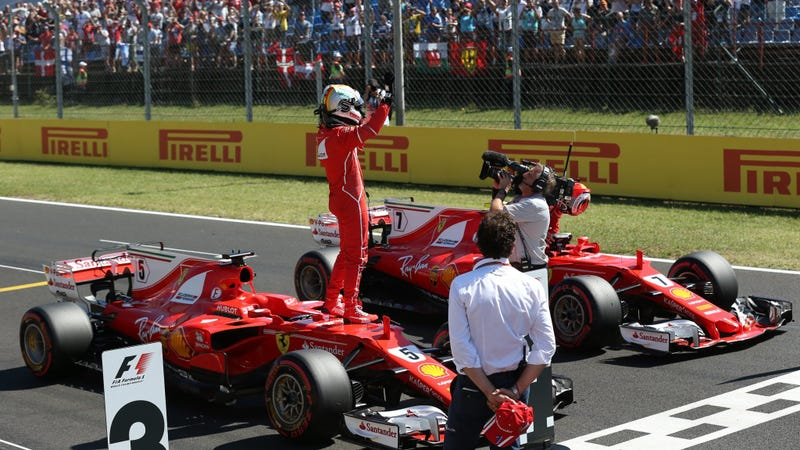 Illustration for article titled Sebastian Vettel Just Set The Fastest Lap Ever At The Hungaroring