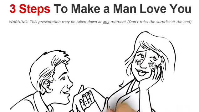 3 Steps To Make A Man Love You