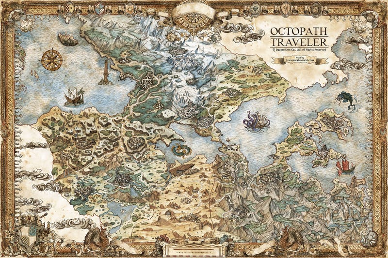 A Collection Of Beautiful, Hand-Drawn Maps For Video Games And RPGs