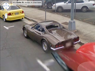 Illustration for article titled The Only Ferrari Dino We've Ever Seen On Google Street View