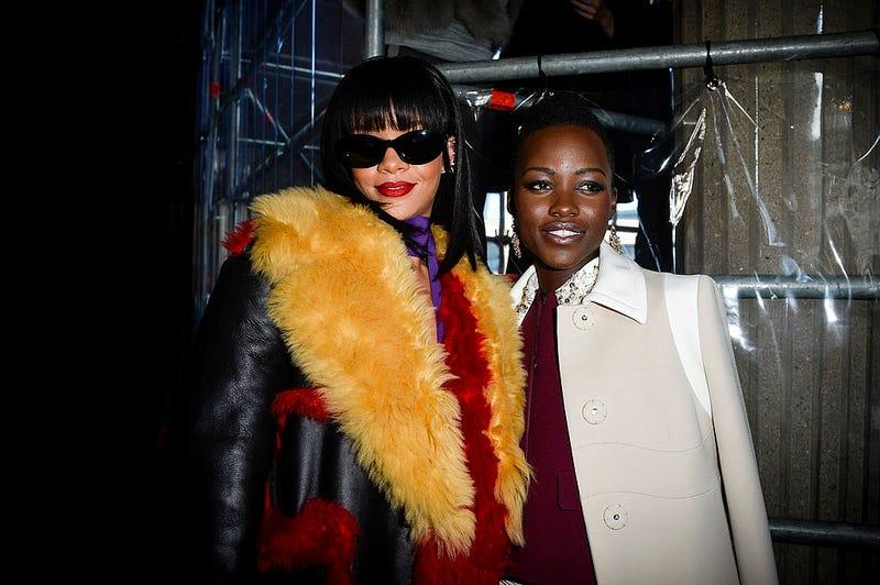 Rihanna and Lupita Nyong'o (Pascal Le Segretain/Getty Images)