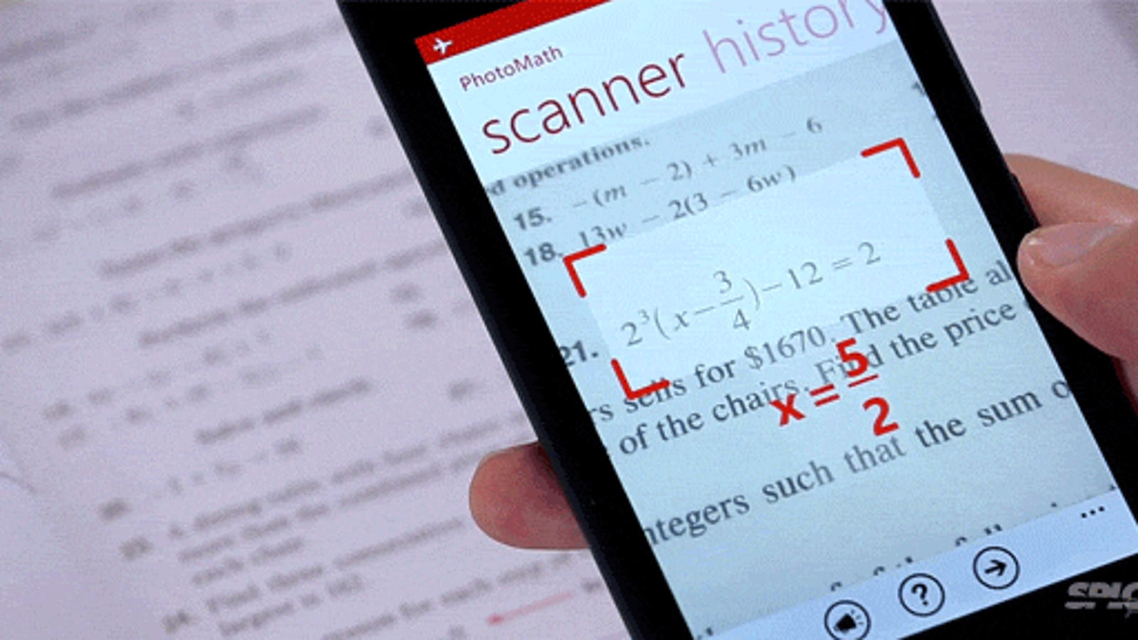 Genius app instantly solves math problems by using a phone\'s camera