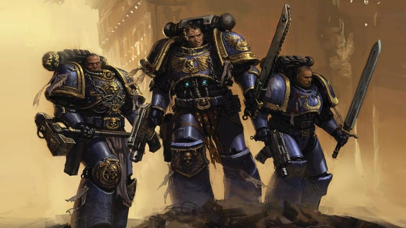 Illustration for article titled Warhammer 40K: Space Marine Pits Thousands of Orks Against One Chainsword