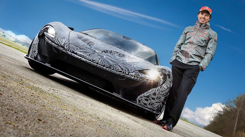 Illustration for article titled Even Sergio Perez Had To Drive A Camo'd McLaren P1