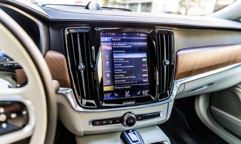 The Volvo S90: one of the few user interfaces I actually liked.