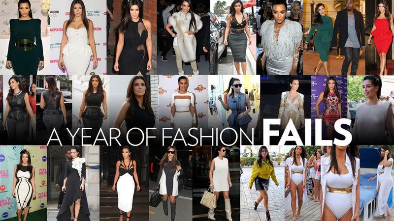 Illustration for article titled Kim Kardashian's Worst-Dressed Moments of 2012, Courtesy of Kanye West