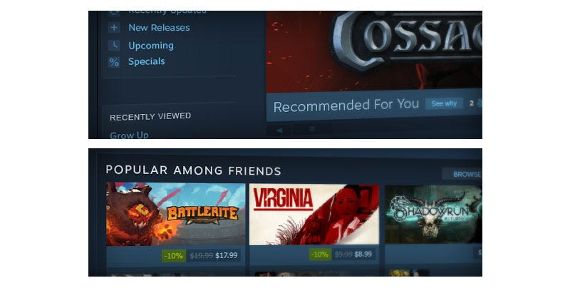 Illustration for article titled Looks Like Steam's Store Is Getting An Overhaul