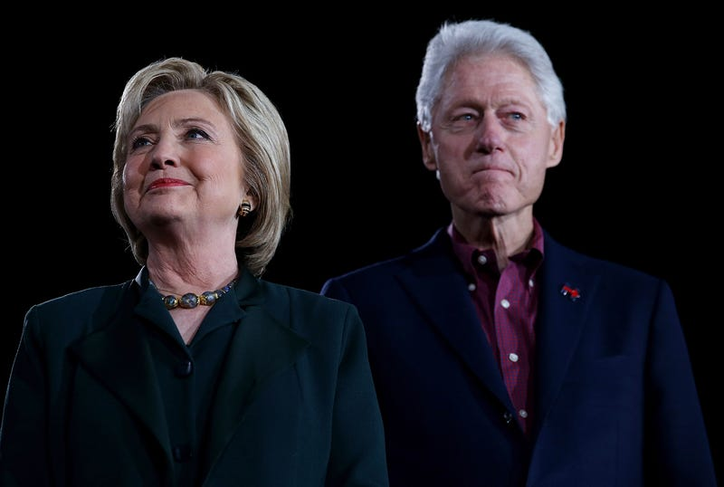 Former Secretary of State Hillary Clinton and her husband, former U.S. President Bill ClintonJustin Sullivan/Getty Images
