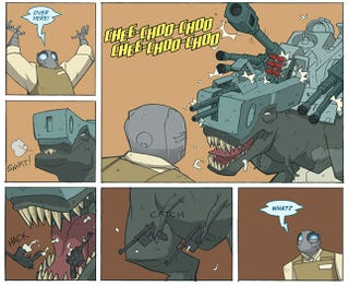 Illustration for article titled The Hilarious Atomic Robo Is Now A Webcomic. Thank You, Internet Gods.