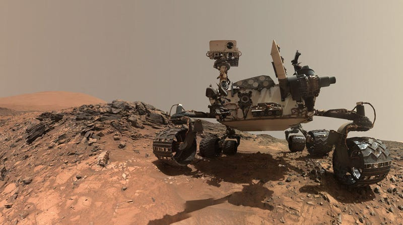NASA's Curiosity rover on Mars.