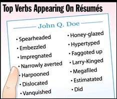 Illustration for article titled Top Verbs Appearing On Résumés