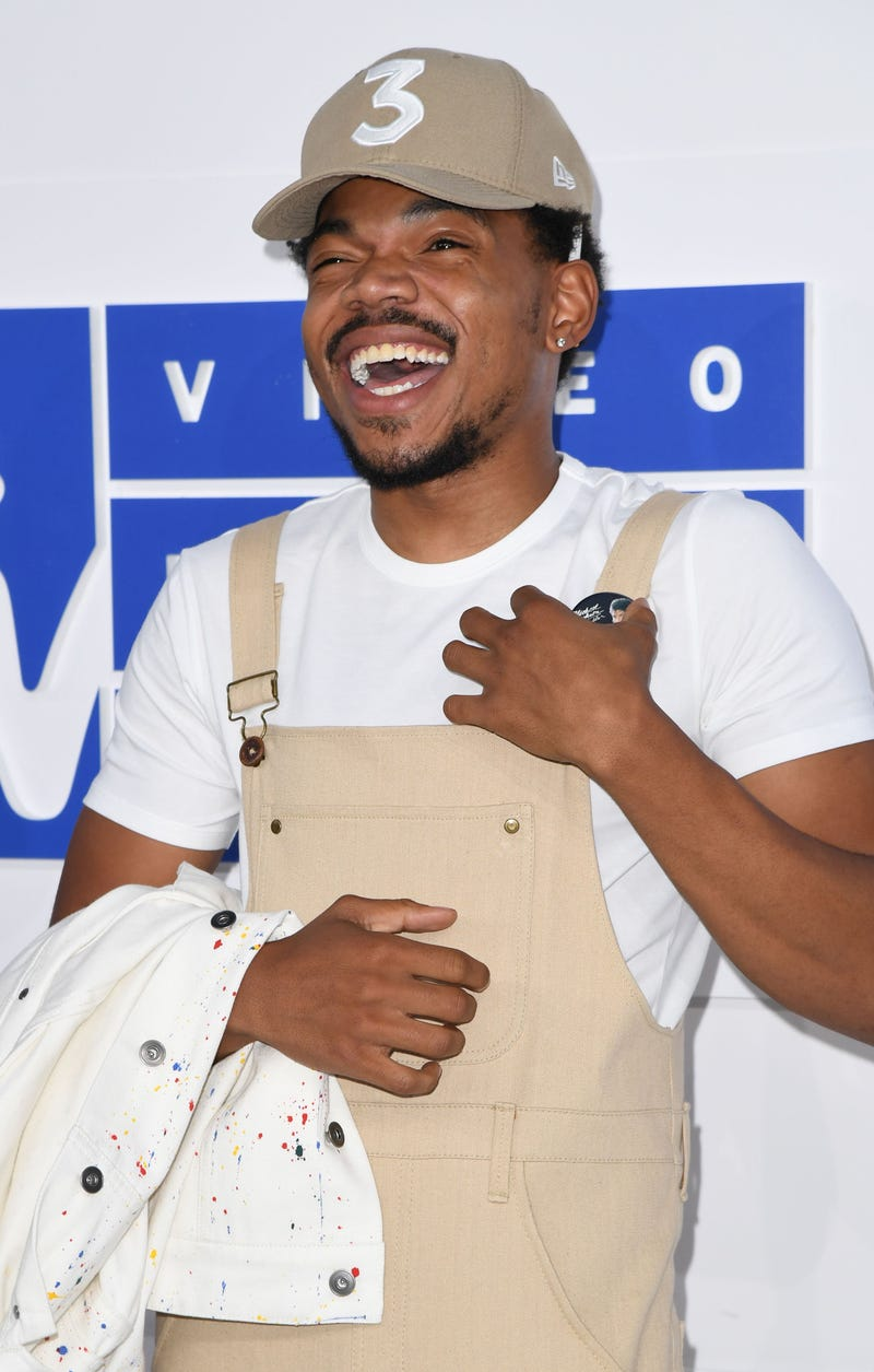 Chance the Rapper attends the 2016 MTV Video Music Awards on Aug. 28, 2016, in New York City.ANGELA WEISS/AFP/Getty Images