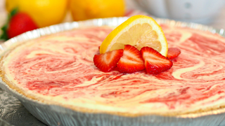 Make Strawberry Lemonade Pie in the Freezer Overnight