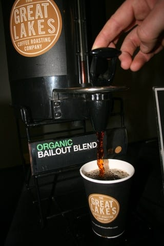 Illustration for article titled Detroit Auto Show's Bailout Blend Coffee Bitter, Rich