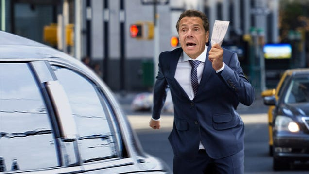 'Wait, Mr. Bezos, You Forgot Your Tax Subsidy!' Says Andrew Cuomo Running Behind Limo