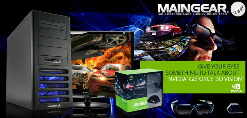 Illustration for article titled Maingear Prelude 2: 3D Vision Gaming PC in a Box