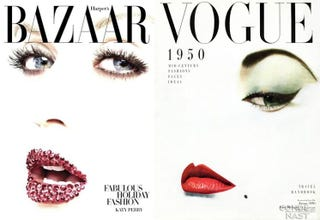Illustration for article titled Harper's Bazaar And Katy Perry Riff On Iconic 50s Vogue