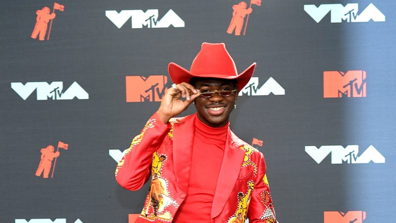 Lil Nas X poses in the Press Room during the 2019 MTV Video Music Awards on August 26, 2019 in Newark, New Jersey.