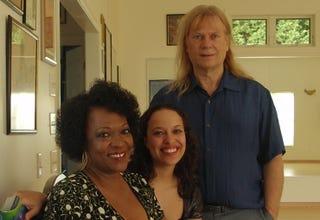 Aviva Dove-Viebahn with her parents, poet Rita Dove and writer Fred Viebahn.
