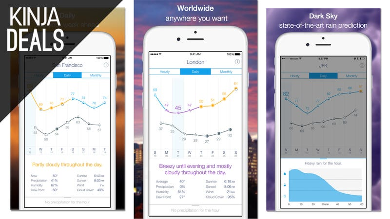 Illustration for article titled Today's Best App Deals: Weather Line, Monument Valley, and More