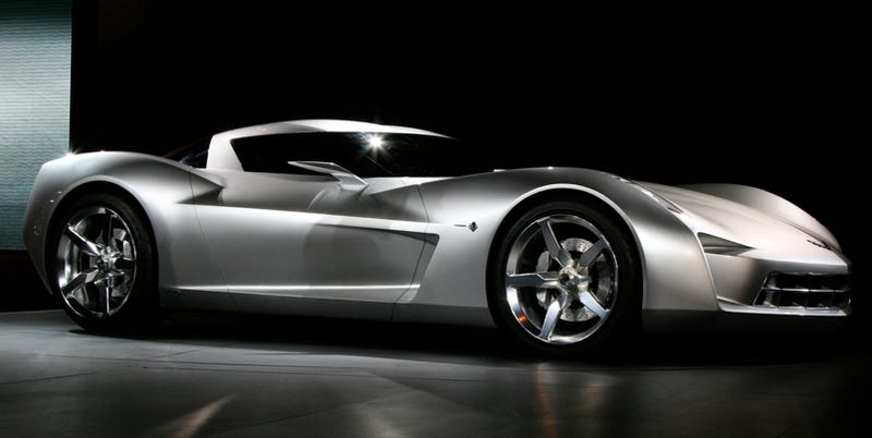 Illustration for article titled Corvette Stingray Concept: Sideswipe In Disguise